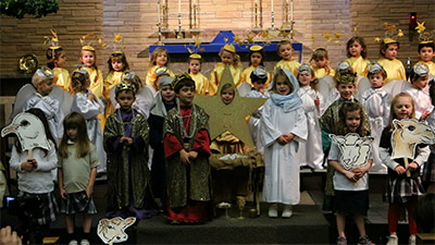 Students perform the Nativity